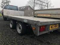 Flatbed 10ft x 6ft galvanised Trailer with brakes