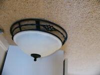 Glass Domed Light Fitting for Ceiling