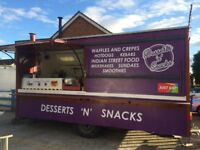 Large Catering Trailer, 16ft x 7ft kebabs, burger, hot food, hot dogs, equip included