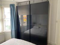 Ikea Pax sliding wardrobe, soft open+close