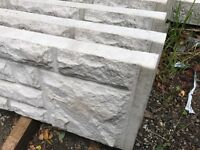 Rock face gravel boards, fence panels