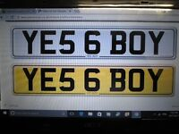 YES BOY NUMBER PLATE YE5 6 BOY ON RETENTION GREAT REGISTRATION PLATE OPEN TO OFFERS AUDI HONDA BMW