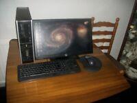 Desktop Computer - HP Compaq 6005 - Win 10, 8GB RAM, MS Office, 20 inch HP Monitor, Wireless Printer