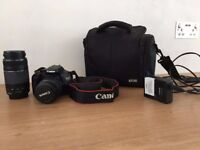 Canon EOS Rebel T2i / EOS 550D 18.0MP Digital SLR Camera - Black (Inc 18-55mm & 75-300mm Len's)