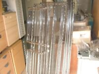4 TIER WIRE MESH CATERING SHELVING / SHELF UNIT / RACK WITH PULL-OUT SHELF