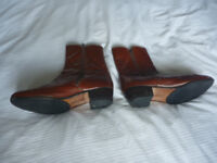 A Pair of zip up men's boots by Paul Chardo, size 9
