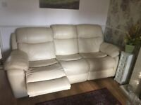 3 seater and 1 chair leather