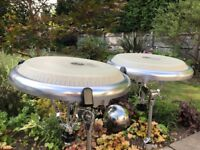 "Pair of LP Giovanni Compact Congas (11"" and 11.75"") with DW Pacific Stands"