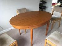 Teak Oval Dining Table And Chairs