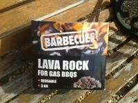 Lava rock for gas barbeque - two new 3kg boxes.