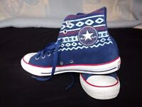 Converse All stars - Blue Suede - Size 9
