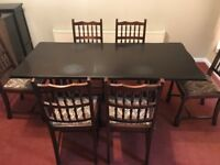 Dark Wood Dining Table with 6 Chairs £50 ono