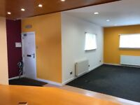 office or office/workshop with kitchen area. Suitable as office or exercise studio/ craft work etc.