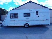 COMPASS LIBERTE 17/4 2004 TOURING CARAVAN WITH 2 AWNINGS