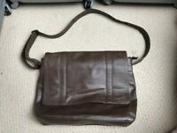 NEXT Brown Faux leather laptop bag
