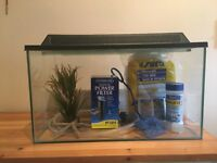 Medium sized fish tank, excellent condition, great starter kit with everything included