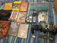 Various games and controllers sega dreamcast playstation xbox pc