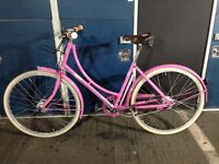 "PASHLEY Poppy 17.5"" Pink Classic Ladies Bicycle Sturmey Archer 3-Speed Hub"