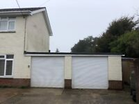 2 x single electric garage doors (white)