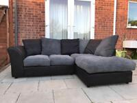 BLACK AND GREY CORNER SOFA! DELIVERY AVAILABLE! EXCELLENT CONDITION!