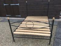Metal Black Double Bed Frame