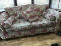 Two seater sofa and armchair, excellent conditions