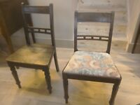 Two 19th century Antique Regency chairs