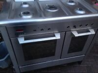 Stainless steel Range gas cooker..Dual fuel Free Delivery