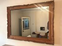 Antique Pine Wooden Mirror