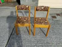 Retro 6 chairs and table time the 1970s