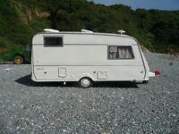 Buccaneer Elan 14L Touring caravan 2/3 berth 1994 with awning.
