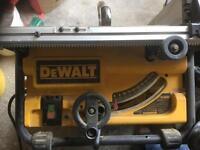 Dewalt 110v table saw. Dw745