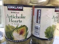 Kirkland whole Artichoke Hearts in brine