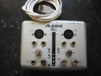 ALESIS iO2 EXPRESS 24 BIT USB GUITAR/VOCAL RECORDING INTERFACE. AS NEW CONDITION