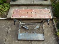 Vintage Black and Decker Dual Height WORKMATE with alloy frames.