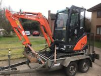 DMG groundworks- Mini digger with Operator Hire