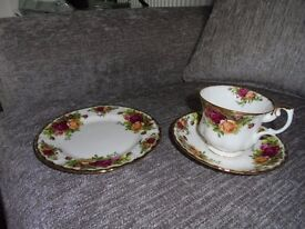 18 piece Royal Albert bone china tea set. Old Country Rose pattern. Unused still in original package