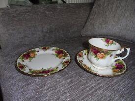 18 piece Royal Albert bone china tea set. Old Country Rose pattern. Unused still in original package