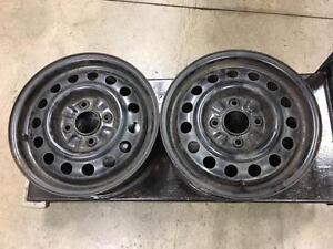Pair of 15 inch, 4 X 114.3 wheels