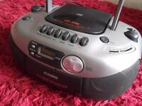 CASIO CD-311S Radio/Cassette/CD Player - vgc
