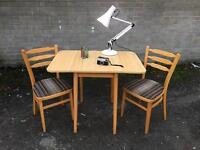 RETRO VINTAGE TABLE AND CHAIRS FREE DELIVERY DANISH MIDCENTURY 🇬🇧
