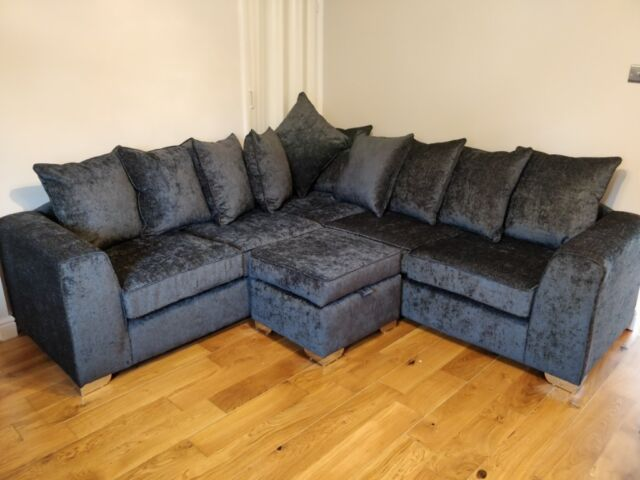 Awe Inspiring Like New 3 Piece Sofa Suite L Shape Cuddle Seat Ottoman Charcoal Grey Chenille In Withington Manchester Gumtree Lamtechconsult Wood Chair Design Ideas Lamtechconsultcom