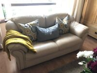 3 Seater & 2 Seater & 2 Chairs Italian Leather Suite