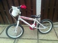 Hello Kitty Pink& White Bicycle Excellent Condition.