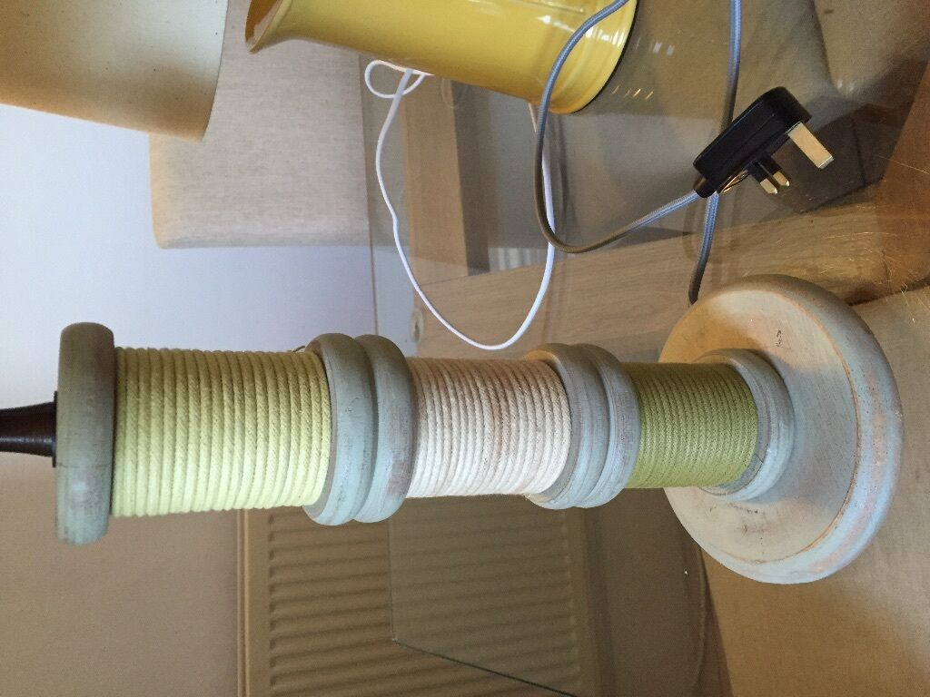 Ex Show Home Next Home Bobbin Cotton Reel Table Lamp In