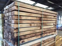NEW HARDWOOD CHESTNUT SLEEPERS - 2400MM X 200MM X 100MM.