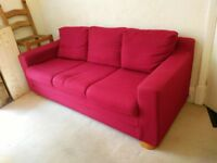 3 seat sofa and 2 armchairs, good condition must go space needed