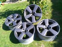 "18"" Audi RS6 5x100 replica alloy wheels"