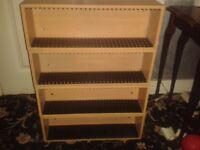 Set of 4 wooden CD racks
