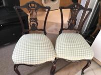 Pair late Edwardian occasional bedroom chairs